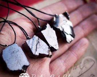 Set of 4 Elite Shungite pendant EMF protection Shungite necklace Shungite jewelry Energy crystal Root chakra Noble Elite Shungite