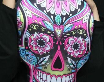 Pillow Sugar Skull   Halloween Home Decor Halloween Pillow  Calavera  Fall decor