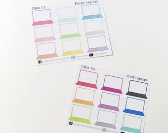 Large Laptop Planner Stickers