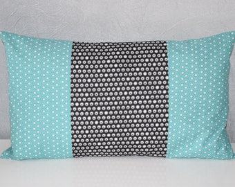 Ice blue, black and white - 50 x 30 cm - Scandinavian Style - Cushion cover