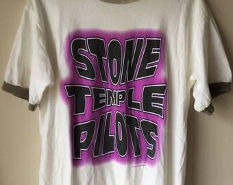 Vintage Stone Temple Pilots 1996 US Tour Concert Band Shirt, 90s 1990s Grunge