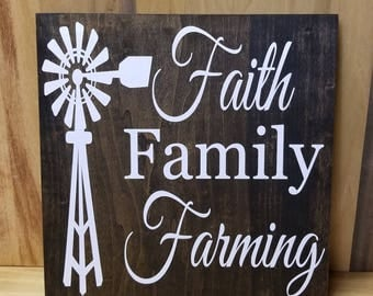 Faith Family Farming Home Decor- Farmhouse- Rustic Decor