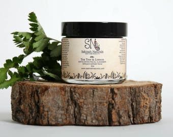 Tea Tree & Lemon exfoliating facial cleanser