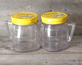 Set of 2 Vintage Oster Osterizer Mini Blend & Store Containers