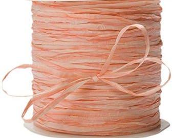 200 Yards Orange  Paper Raffia Ribbon  romantic ribbon, weddings, favors, barn wedding