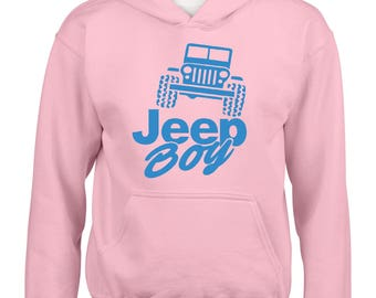 Jeep Boy Humor Trucks Gift for Christmas Birthday Match with Jeans Leggings Hats Girls Boys Youth Kids Hoodie