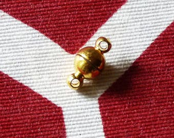 Strong Magnetic Clasps for Jewelry, Small Ball Magnetic Necklace Clasps, Gold Magnetic Bracelet Clasp, Magnetic Closure, Magnetic Fastener
