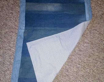 Denim blanket, festival throw, stadium blanket, handmade denim blanket