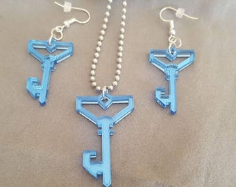 Ingress Resistance Mirrored Key Acrylic Jewlery Set