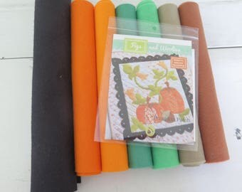 Pumpkin Patch pattern by Fig Tree and company, wool blend felt kit sold separately