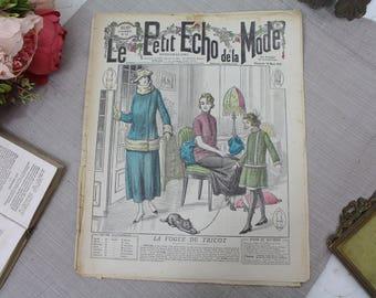 Vintage French Fashion Magazine - 1920's - Le Petit Echo de La Mode - 19th March 1922