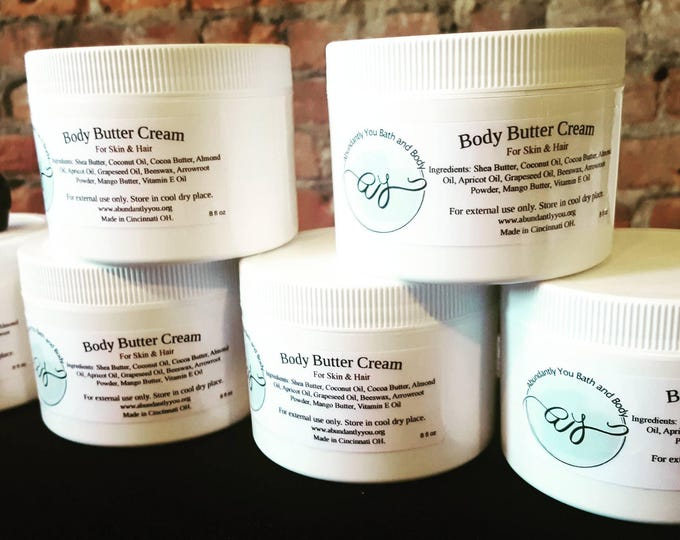 Body Butter Cream | Natural | Whipped Butter | Whipped Body Butter