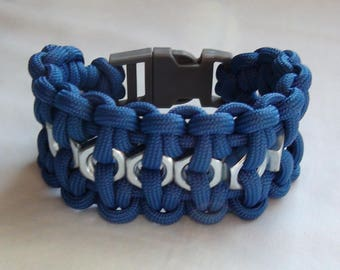 Paracord Bracelet wth Hex Nuts