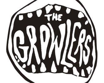 The Growlers vinyl decal sticker for Car/Truck Window Rock Music mac computer