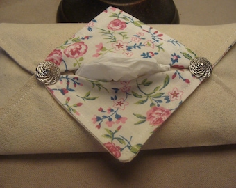 Linen handkerchief case and romantic cotton