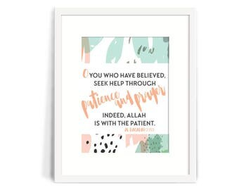 Sunnah and Quran Inspired Wall Art, Home Decor, Islamic Reminders 8x10 Printable, Islamic art, beautiful! Islamic Quotes