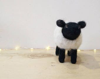 Felted sheep -   wool, needle, felted, Shetland, sheep, gift, country, wool, local, wool, British