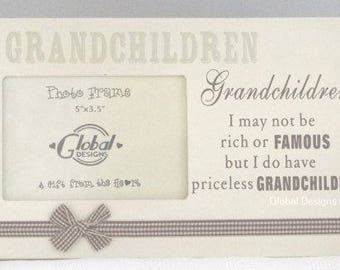 Photo Frame Grandchildren Picture Frame I May Not Be Rich Or Famous Priceless Grandchildren  F0256B