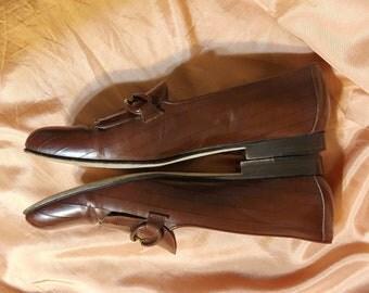 Vintage Cole Haan Brown Tie Loafers