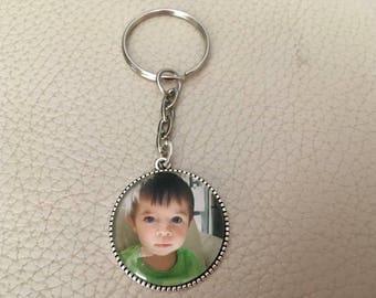 Personalized Keychain photo logo text