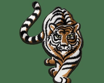 Patch/Ironing-Tiger sneaks animal-white-8.8 x 7 cm-by catch-the-Patch ® patch appliqué applications for ironing application patches patch