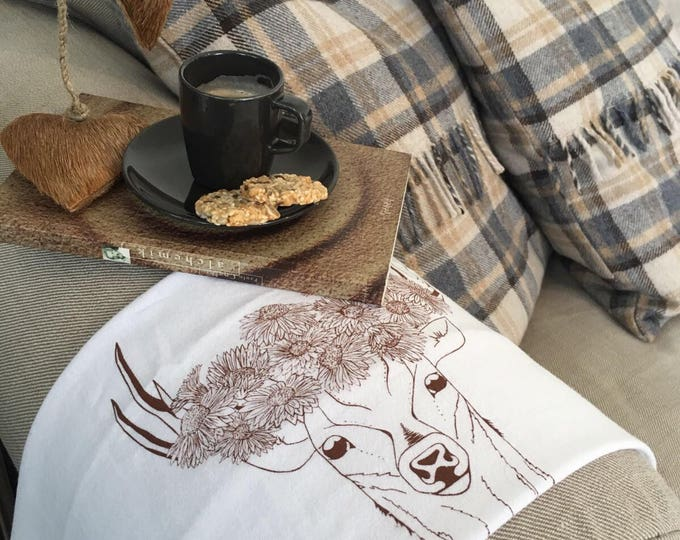 Deer With Flower Crown - Kitchen And Dining Cloth Napkins - Set of 4