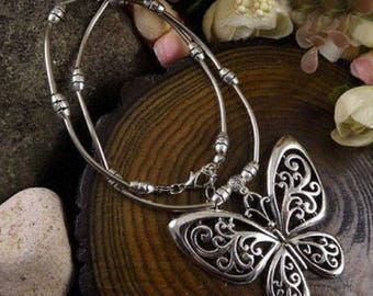 Tibetan Silver Butterfly Necklace