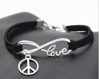 Peace Love Infinity Bracelet