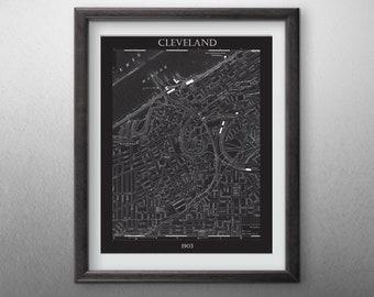 Cleveland City  Map - Digital File