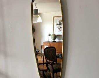 Mirror mirror asymmetrical 86 x 34 vintage 1960's