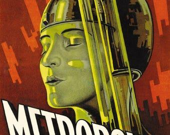 Metropolis Fritz Lang 1927 Sci-Fi Film Vintage Cinema Movie Poster Art Print A4