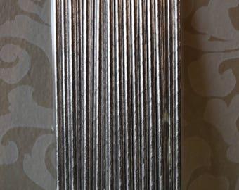 Silver Straws -24 Ct.