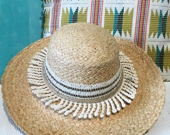 EcoFriendly Hat |Natural Hat |Straw Hat |Chapeau paille |Strohhut |Beach hat |Summer Hat |Beach Essentials |strandhut |Chapeau soleil
