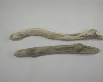 "2 Thick Driftwood Sticks 14.2-16.1"" /36-41cm, Driftwood Sticks, Beautiful Shaped Driftwood Dowels, Driftwood Woven Wall Hanging #62S"