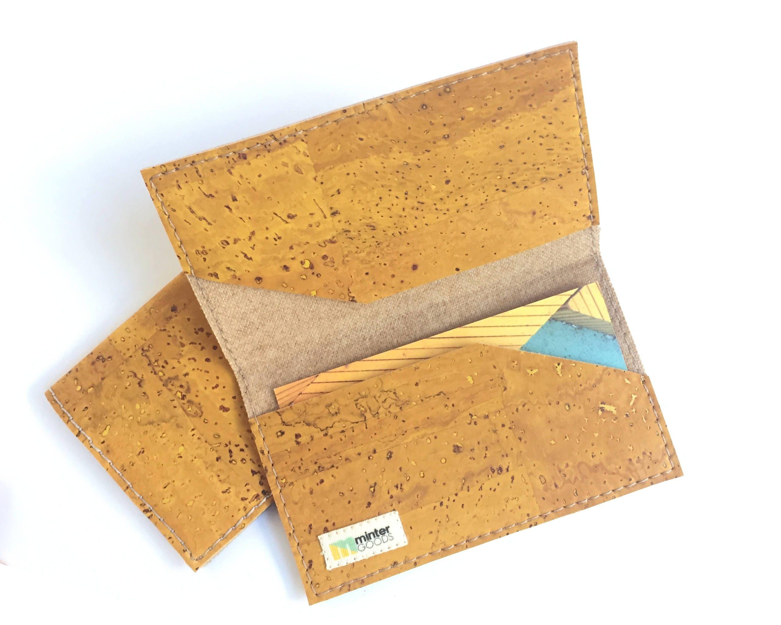 Cork card case mustard yellow cork fabric business card case card cork card case mustard yellow cork fabric business card case card holder colourmoves Choice Image