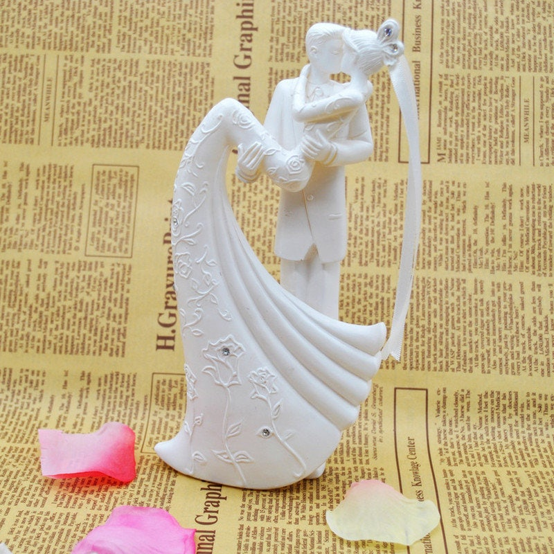 Rustic Love Bride And Groom Wedding Cake Topper Resin Engagement ...