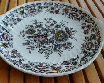 English porcelain dish Ridgway ironstone staffordshine Clifton model