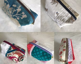 BOX POUCH, pouch, Japanese fabric, beautiful fabric, Japases fabric, ladies pouch, everyday pouch, gift for her