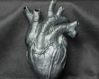 Silver Heart Sculpture