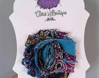 Shabby Chic Flower Hair Clips, Flower Hair Clips, purple hair clip,  flower