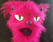 Bright fuschia kitty cat ...