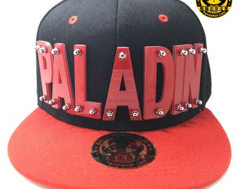 Paladin Voltron Arcylic Snapback Hat with red brim in Sparkling Red letters