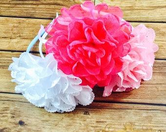 Flower headband trio