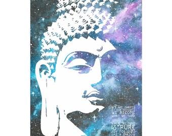 Buddha quote art photo print poster - 12x8 inches (30cm x 20cm) - Superb quality - N.0 3
