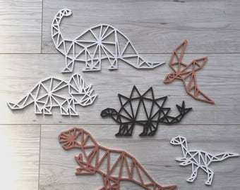 Geometric Dinosaurs, Geo T-Rex, Dinosaur Nursery, Geometric Design, Geometric Bedroom, Boys Decor, Dino Wall Art, Brontosaurus, Pterodactyl
