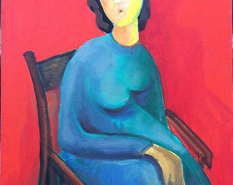 Mindfulness-Oil Painting-Original Art