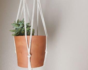 M A C R A M E plant hanging