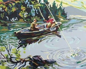 Paint by Number Print : Gone Fishing