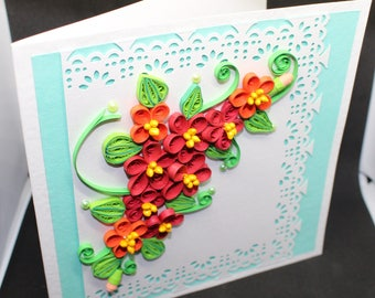 Handcrafted quilling art