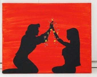 Pocahontas Acrylic Canvas Painting